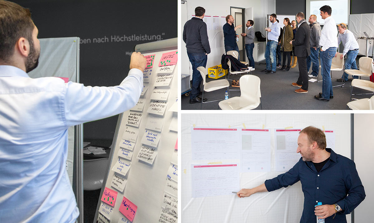 Impressionen eines Design Thinking Workshop.