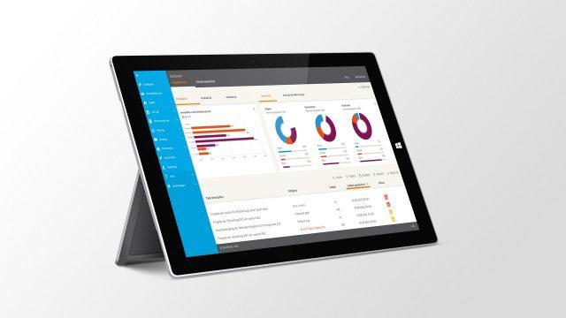Immobilienportfolios Diamos auf dem Surface Pro