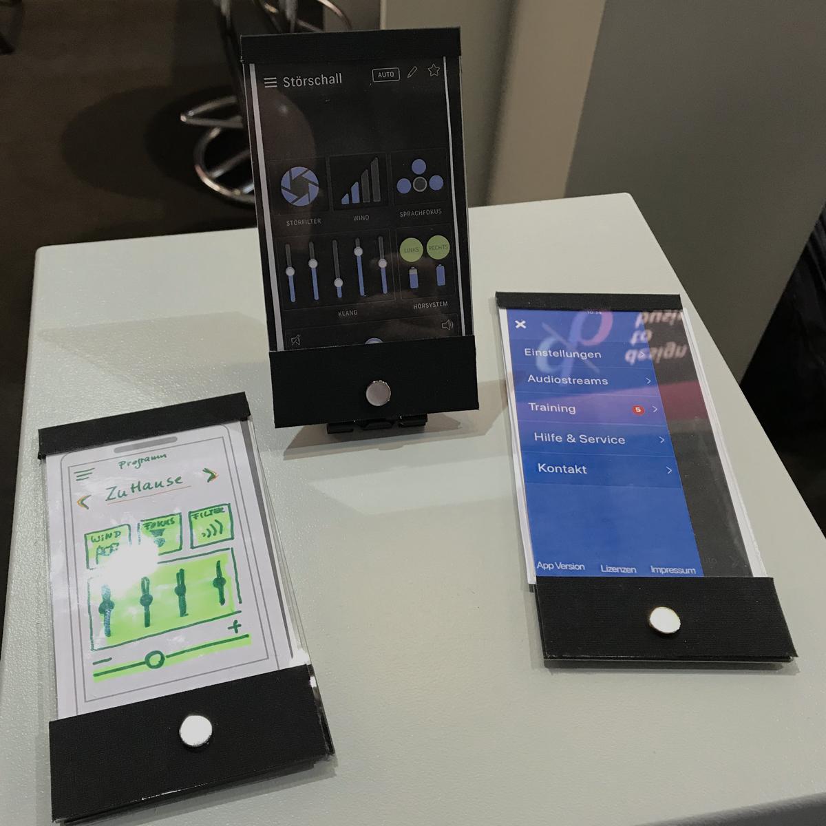 Bild: Prototypen für eine Hörgeräte-App