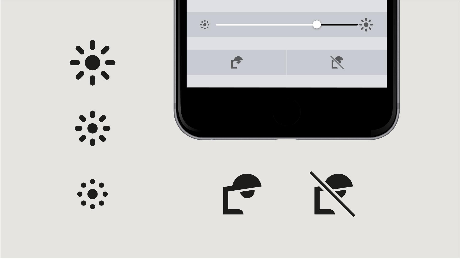 Icons kommunizieren Funktionen und lösen Aktionen aus.