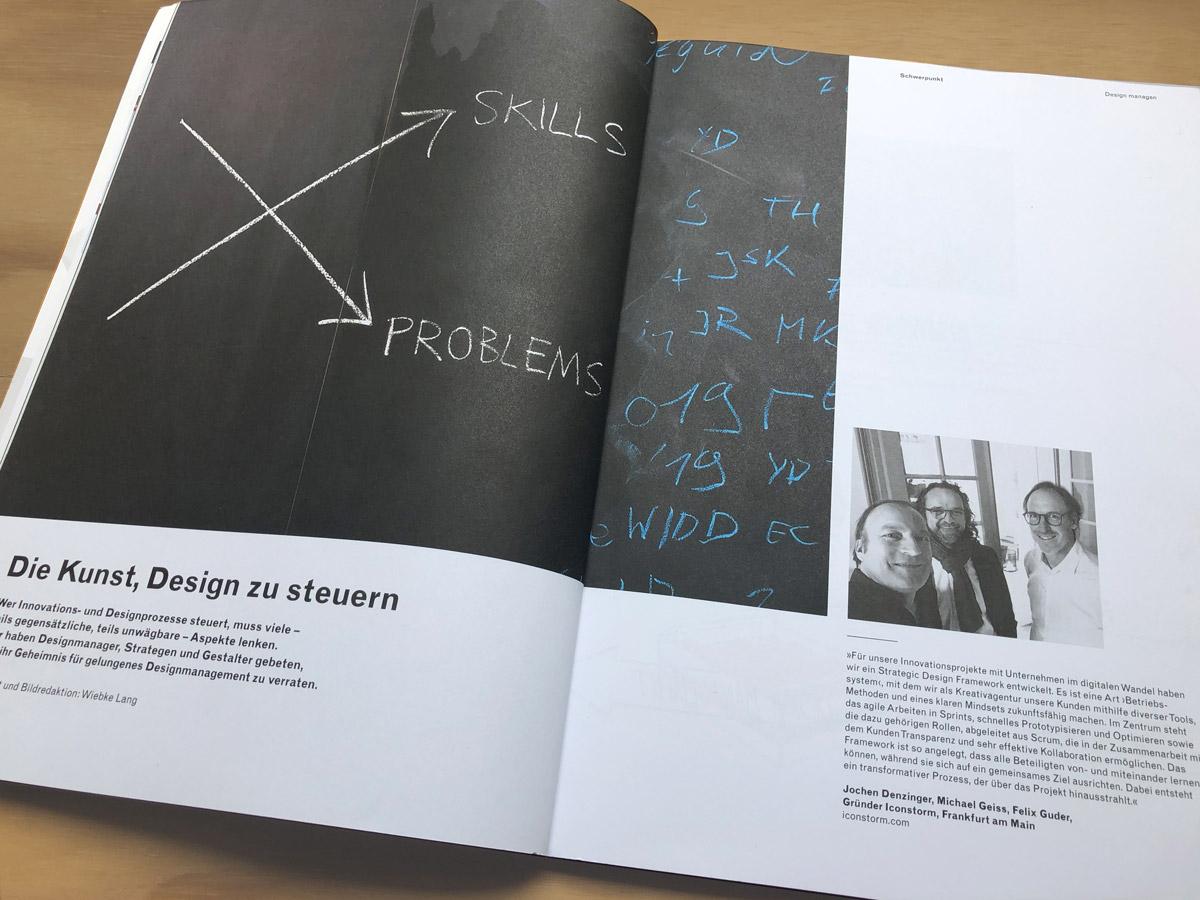 Iconstorm im Designreport – Ausgabe 2/2019