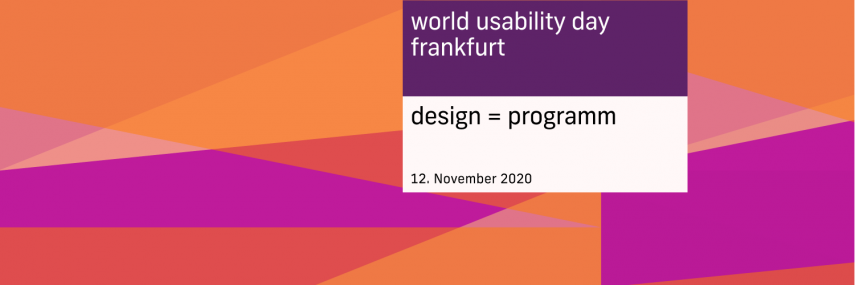World Usability Day 2020 – Designing Programmes