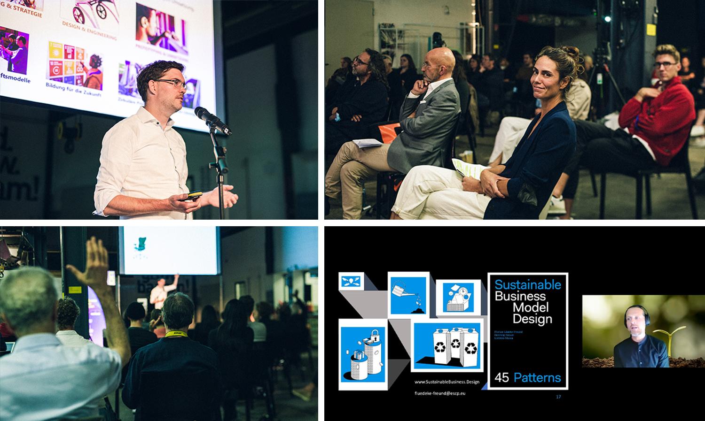 Bild: WIDD 2021 mit Michael Weber (Creator's Collective) und Prof. Dr. Florian Lüdecke-Freund (ESCP Business School).